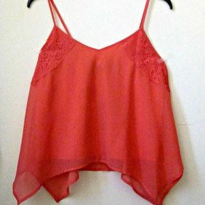 Colleen Atwood Tank Top Red Size S Juniors Strappy